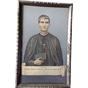 Vintage Photo Frame of Father Agnelo Gustavo Adolfo de Souza, S.F.X. Photo Anjuna Goa India