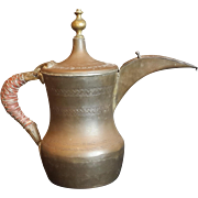 Middle East Antique Teapot Islamic Dallah Arab Big Copper 3kg Bedouin Coffee Pot