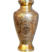Shriners Freemasons Vase Antique Islamic Silver Inlaid Metalsmith Damascus Work 19thC. Private order Urn