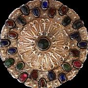Antique Turkmenistan Yomut Pendant Islamic Turkmen Silver Amulet Necklace.