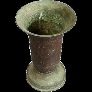 Antique Copper Vase Middle Eastern Urn Authentic ethnic