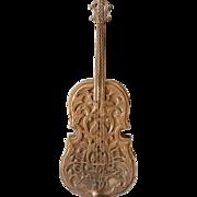 "Silver Cello Perfume Holder Vintage Sterling Musical instrument Miniature Art 6"" Judaica Box"