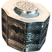 Dutch Solid Silver Pill Box. (ring box) 1852