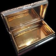 Solid silver snuff box. Joseph Wilmore Birmingham 1823