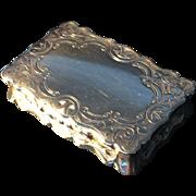 Snuff Box. Antique solid silver. George Unite, Birmingham 1881
