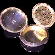 German solid silver pendant Vinaigrette. Hallmarked ca 1880
