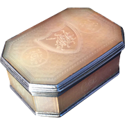 Beautiful antique sterling silver and mother of pearl box. France ca 1800.