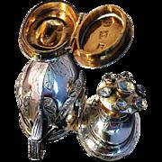 Superb Solid Silver Empire Vinaigrette. Nicolai Hansen, city of Tonder, Denmark 1764-1835