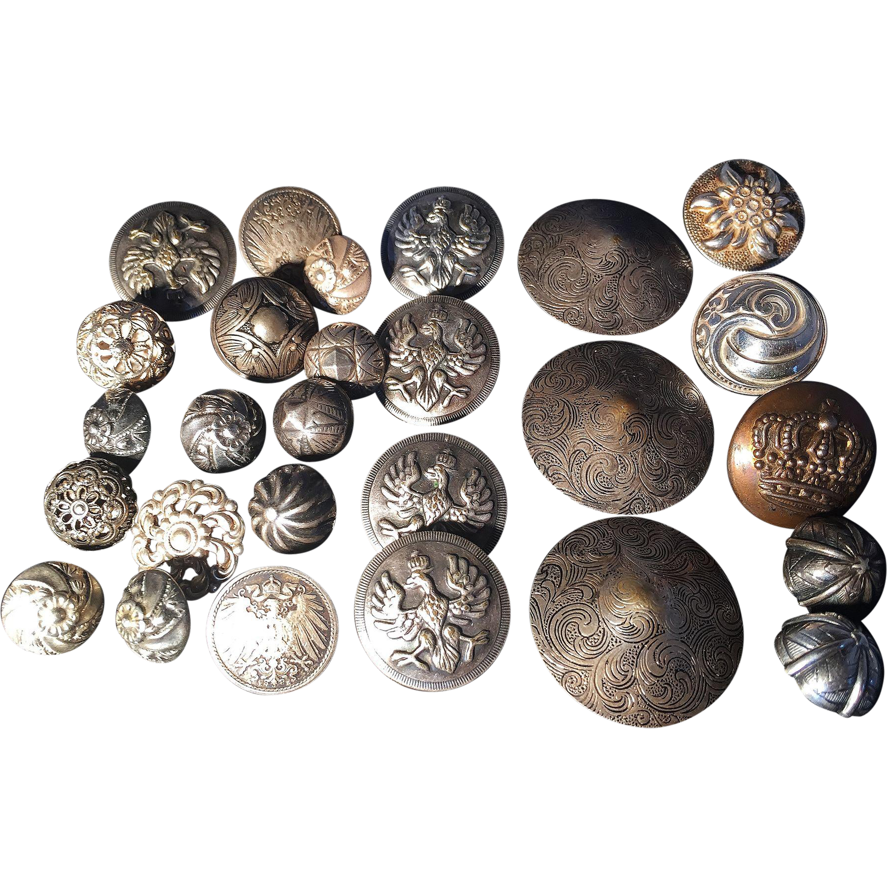 Vintage Silver Buttons 117