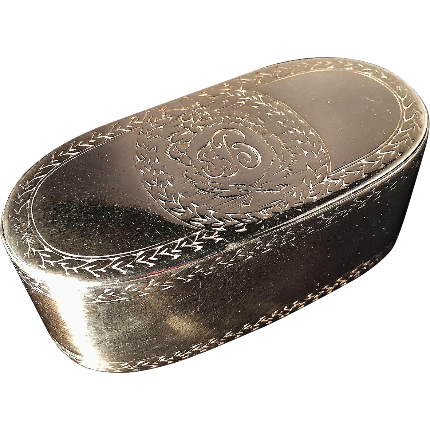 Antique Solid Silver 18th C Snuff Box Excellent From
