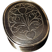 Extremely Early and Rare Solid Silver Snuff Box. Johan Svensson Berg, Sweden 1719-1745
