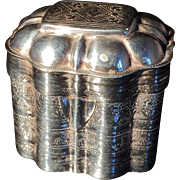 Dutch Solid Silver Pill Lodderein Vinaigrette Box 1853.