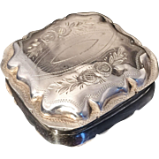Dutch Solid Silver Pill Box 1878