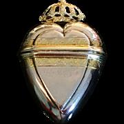 Excellent Solid Silver Vinaigrette. Hallmarked 1740, Nicolai Martin Fuchs, Copenhagen