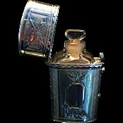Superb Antique Perfume Bottle, w Sterling Silver Box Etui. Birmingham 1816