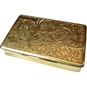 Early 1800s Excellent Fully Gilded Solid Silver Austrian Vienna Tobacco Box.