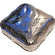 Dutch solid silver pill box. 1878