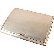 Early 1900s Solid Sterling Silver Cigarette Case. Excellent.