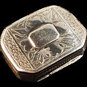 Samuel Pemberton 1813, Solid Sterling Silver Vinaigrette Scent Box