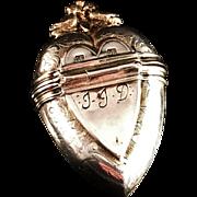 1700s Danish Solid Silver Vinaigrette Hovedvandsaeg. Hallmarked