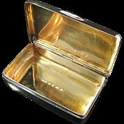 Solid Silver Snuff Box. Hallmarked Lorentz Wilhelm Fougberg, Sweden 1861