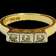 Much sought after modernist maker ALTON, Sweden. 18K gold and white stones. 1950.