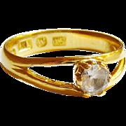 18K Antique 1876 Johan Palm Visby, Sweden Ring.