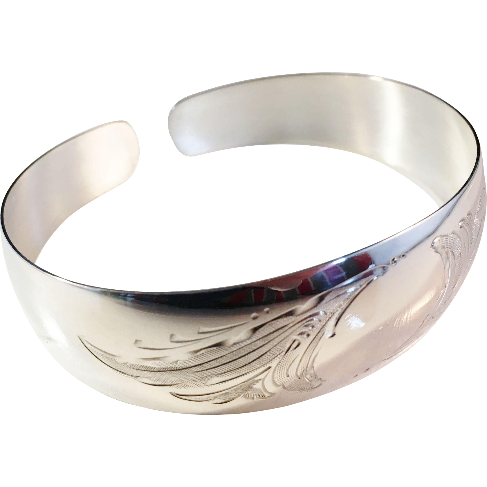 Fully Hallmarked Vintage Solid Silver Bracelet Bangle 1960 Toivo Antiquesilverbo Ruby Lane