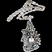 Kalevala Koru Vintage 1972 Solid Silver Pendant Necklace. Excellent