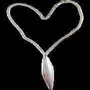Vintage 1952 Per W Sköld, Stockholm Sterling Silver Pendant Brooch Necklace. Early Modernist.