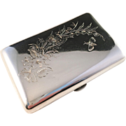 Antique Moscow, Russia Solid Silver Cigarette Case.