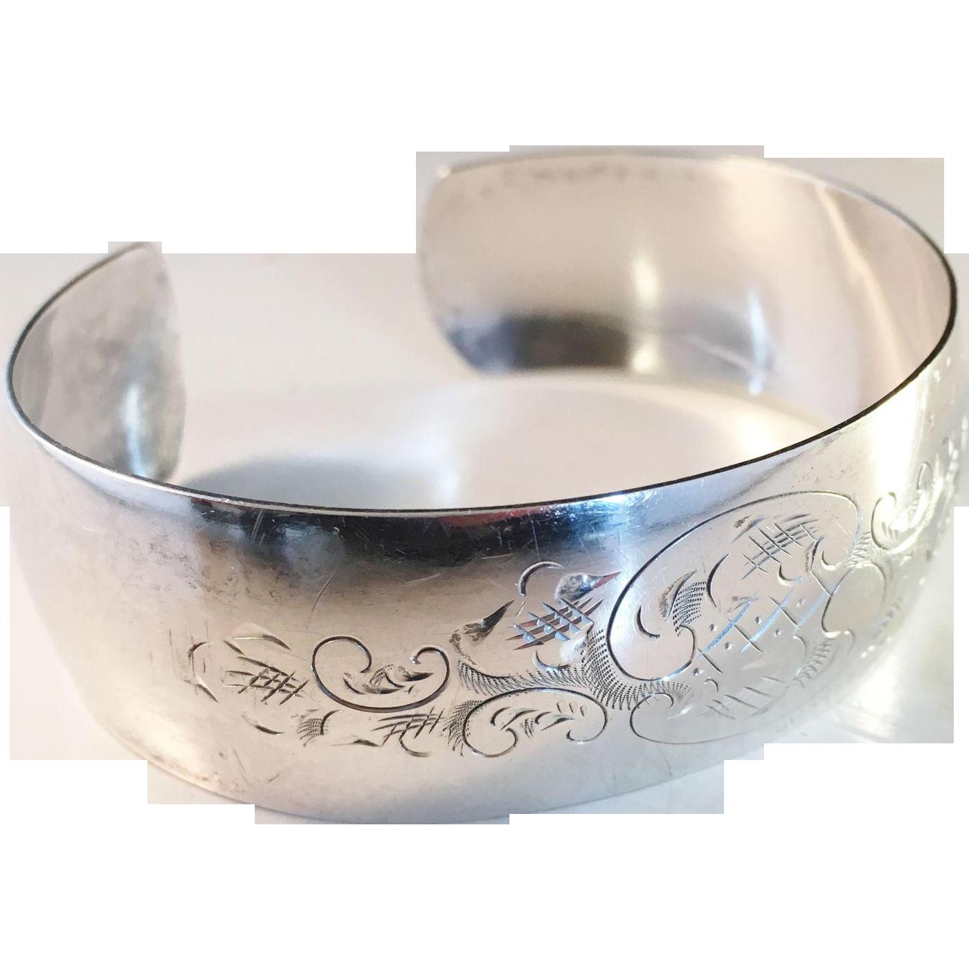 Vintage Danish Sterling Silver Bangle Bracelet Bjorklund