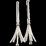 Vintage Solid Silver Champagne Cocktail Stirrer Swizzle Pendant. Excellent.