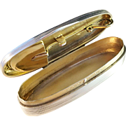 Antique Georg Adam Scheid Silver Snuff Box & Shovel Spoon, Reatailer Appay Paris Silver. Extremly Rare.