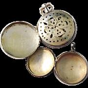 Two Early 1800s Scent Vinaigrette Boxes/Pendants. One hallmarked Pehr Rosenlöf 1807-1825, Sweden.