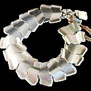 Bold Sterling Silver Bracelet, by famous modernist Alton, Sweden 1958.