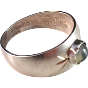 Waldemar Jonsson, 1965 Solid Silver Ring with Moon Stone.