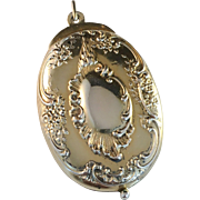 Large Gilt Silver Mirror Pendant. La Belle Époque, Art Nouveau France early 1900s. 1.15oz