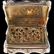 Stunning Sterling Silver Vinaigrette. Edward Smith Birmingham 1860