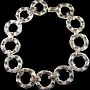 Stunning 7.8oz Famous Modernist Sven-Erik Högberg 1966, Sweden, Solid  Silver Necklace. WOW.