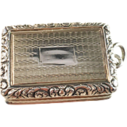 Antique 1820 Sterling Silver Pendant Vinaigrette. Joseph Willmore, Birmingham