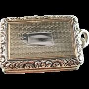 Antique 1820 Sterling Silver Pendant Vinaigrette. Joseph Willmore, Birmingham