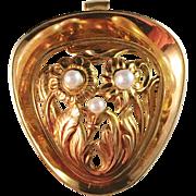 Famous Borgila, Stockholm 18k Gold Pendant Brooch 1954. 8.2gram