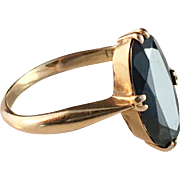 1941 Bo Åström 18k Gold Hematite Ring. Excellent.