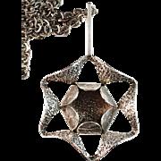 Large ALTON Sterling Silver Pendant Necklace. Sweden 1971. Modernist - Brutalist.