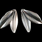 Gertrud Engel for Anton Michelsen Sterling Silver Clip On Earrings. 1950.