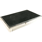 1933-44 Georg Jensen Art Deco Cigarette Card Makeup Case. Sterling Silver.