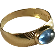 18k Gold Ring. Johan Pettersson Stockholm 1957. Mid Century. Excellent.