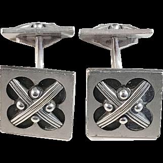 Georg Jensen Vintage 1940s Sterling Silver Cufflinks, design #62 A