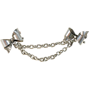 Mid Century 1948 Solid Silver Scarf Brooch. Renowned Kaplan, Stockholm.